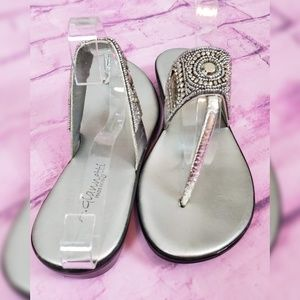 A. Giannetti Silver Sandals